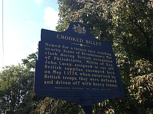 Battle of Crooked Billet - Pennsylvania historical marker commemorating the Battle of Crooked Billet