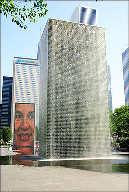 Crown Fountain, Milleneum Park Chicago, Illinois.jpg