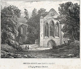 Crucis Abbey near Llangollen