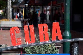 Cuba Street, Wellington - Cuba Street sign