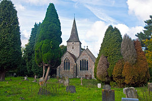 Cudham - Image: Cudham Church, Kent, England, 20 September 2010