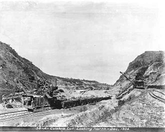 Culebra Cut - The Culebra Cut in December 1904, after the French handover