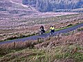 Cyclists ascending the Nick of the Balloch - geograph.org.uk - 263388.jpg