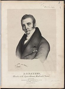 Portrait of D.F.E. Auber from sheet music for Lestocq (Boston: William H. Oakes, 19th century) (Source: Wikimedia)