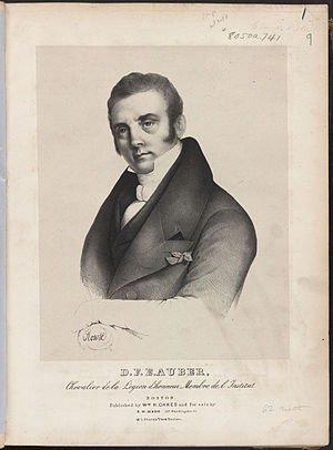 Daniel Auber - Portrait of D.F.E. Auber from sheet music for Lestocq (Boston: William H. Oakes, 19th century)