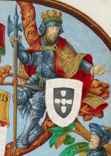 Д. Афонсу IV де Португалия - Португальская генеалогия (Genealogia dos Reis de Portugal) .png