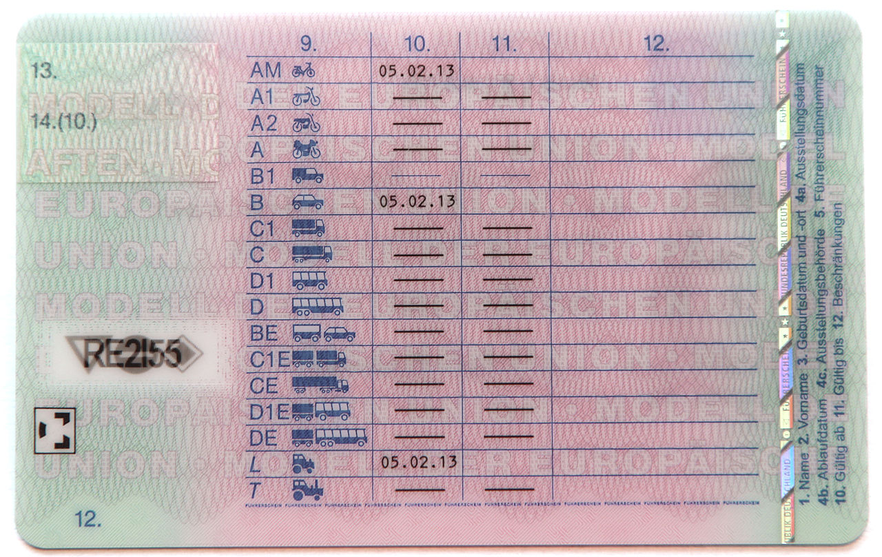 uk license code 79(3)