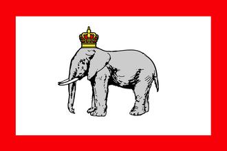 First Franco-Dahomean War - Image: Dahomey kingdom flag