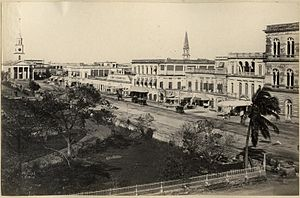 B. B. D. Bagh - A picture of Dalhousie Square looking northeast in the 1870s