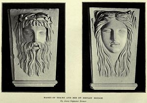 The Isis - Thame and Isis, carved by Anne Seymour Damer.