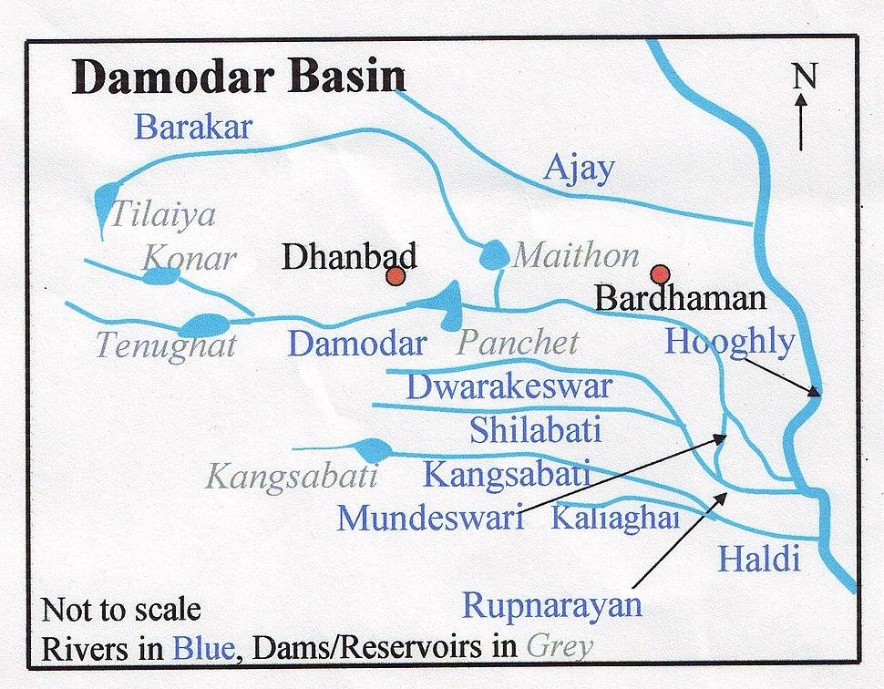 Damodar Map