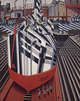 Edward Wadsworth - Dazzle-ships in Drydock at Liverpool, 1919, National Gallery of Canada, Ottawa.