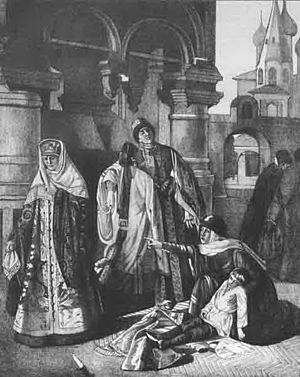 Dmitry of Uglich - The Death of Tsarevich Dmitry, by Pavel Pleshanov