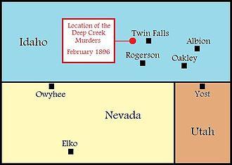 Deep Creek murders - Image: Deep Creek Murders Idaho 1896