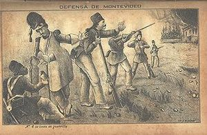 Uruguayan Civil War - Image: Defensa de Montevideo