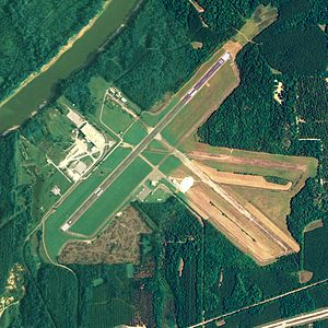 Demopolis Municipal Airport - NAIP aerial image, August 18, 2006