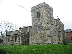 Richard Lynch Cotton - St James' parish church in Denchworth, Berkshire, where Cotton was vicar from 1823 to 1838.