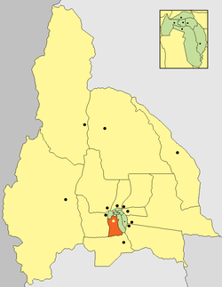 location of Departamento Rawson in San Juan Province