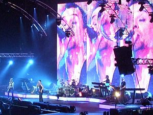 Depeche Mode - Tour of the Universe concert at London's O2 Arena, December 2009.