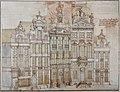 Derons, Van aen den hoeck van de hoeijmaeckersstraedt tot aen den hoeck van de stertstraedt op de groote meert, 1729 (MSB) - Hoedenmakersstraat-Karel Bulsstraat.jpg
