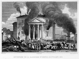 Destruction of barrier of St. Denis - July, 1830.jpg