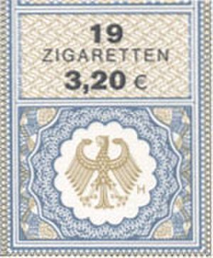 Smoking in Germany - 2003: 3,20 Euros for 19 cigarettes