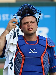 Devin Mesoraco during warmups, March 3, 2019 (cropped).jpg