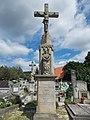 Diás cemetery, Dornyay crucifix (1866) in Gyenesdiás, 2016 Hungary.jpg