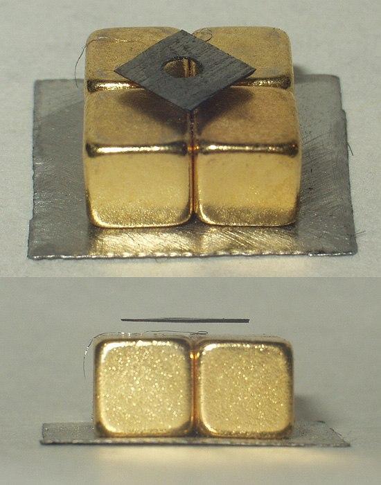 Diamagnetic graphite levitation