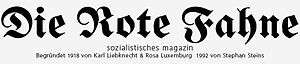Hede Massing - Rote Fahne masthead