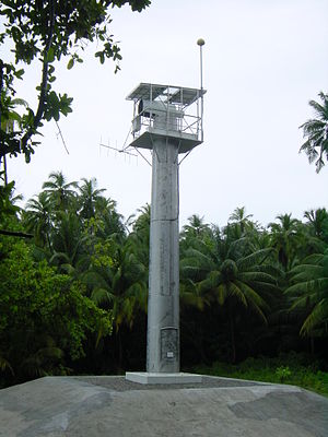 Sector light - Diego Garcia PEL Sector Light. 3.5 million candela which is visible for over 18.5km by day. Total beam width of 1.6° with white sector of 0.2°.