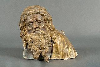 Buste d'homme barbu