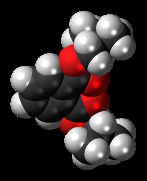 Diisobutyl phthalate - Image: Diisobutyl phthalate 3D spacefill