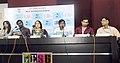 Director Shri Lakshmikant Shentgaonkar, Producers Dr. Pramod Salgaocar, Dr. Sagar Salgaocar, Actor Akash Sinha and Actress Paoli Dam interacting with the media, at the 44th International Film Festival of India (IFFI-2013).jpg