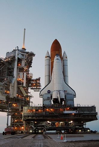 STS-121 - Discovery arrives at the launch pad, for STS-121.