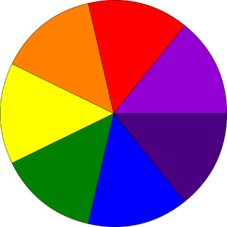 Newton disc rotating disc with segments in rainbow colours that appears as white or grey when spun fast