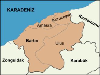 Bartın Province - Districts of Bartın Province