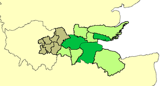 Thames Gateway - Image: Districts of thames gateway
