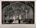 Divinity School, Oxford; great hall. Line engraving by J. Le Wellcome V0014106.jpg