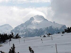 Dzhengal - The Dzhangal Peak up-close in late April.