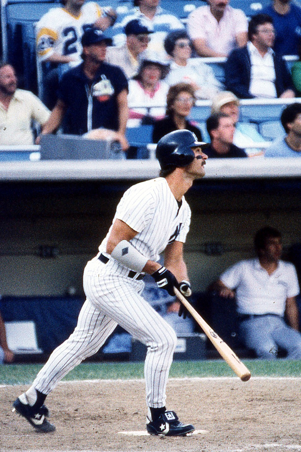 Don Mattingly playing for the New York Yankees at Yankee Stadium on August 19, 1988