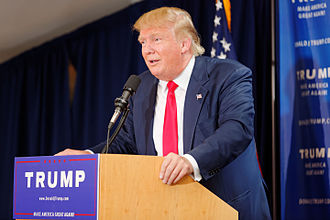 Donald Trump 2016 presidential campaign - Trump at an early campaign event in New Hampshire on July 16, 2015