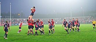 Musgrave Park, Cork - A line-out during a rugby match between Munster and Scarlets at Musgrave Park