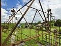 Doorzicht vanuit de stalen reprica (luchtspiegeling) van de gesloopte state op het poortgebouw en de omgeving - Bears - 20536268 - RCE.jpg