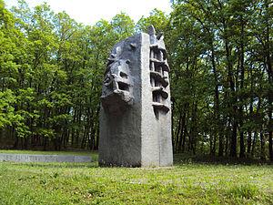 """Branko Ružić (sculptor) - Branko Ružić, """"Memorial to people of Zagreb who fell 1941-1945"""", Dotršćina, Zagreb, Croatia, 1981"""