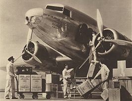 De gloednieuwe Douglas DC-1 City of Los Angeles in 1933