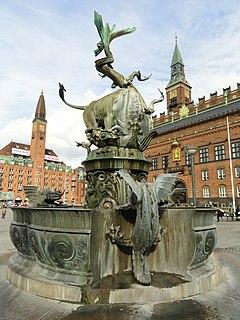 Dragon Fountain, Copenhagen fountain in Copenhagen