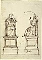 Drawing, Design for a Marble Throne for the Statue of St. Peter, St. Peter's, Rome, 1754 (CH 18554059).jpg