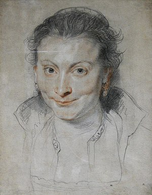 Trois crayons - Image: Drawing of Isabella Brant by Peter Paul Rubens