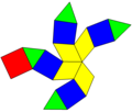 Dual diminished rhombic dodecahedron net.png